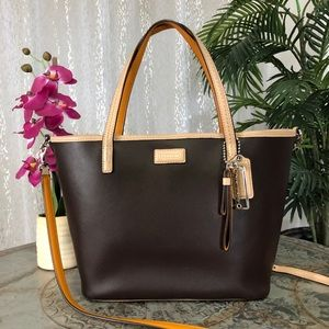 COACH PARK METRO LEATHER TOTE F25663 SV/MAHOGANY